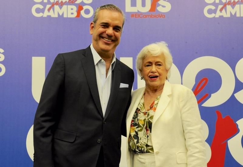 Luis Abinader y Milagros Ortiz Bosch