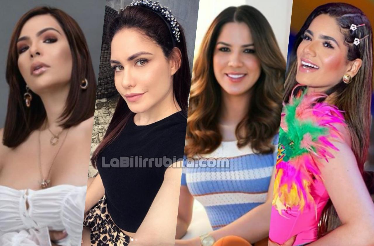 Sandra Berrocal, Jenny Blanco, Yubelkis Peralta y Dannelis Veras