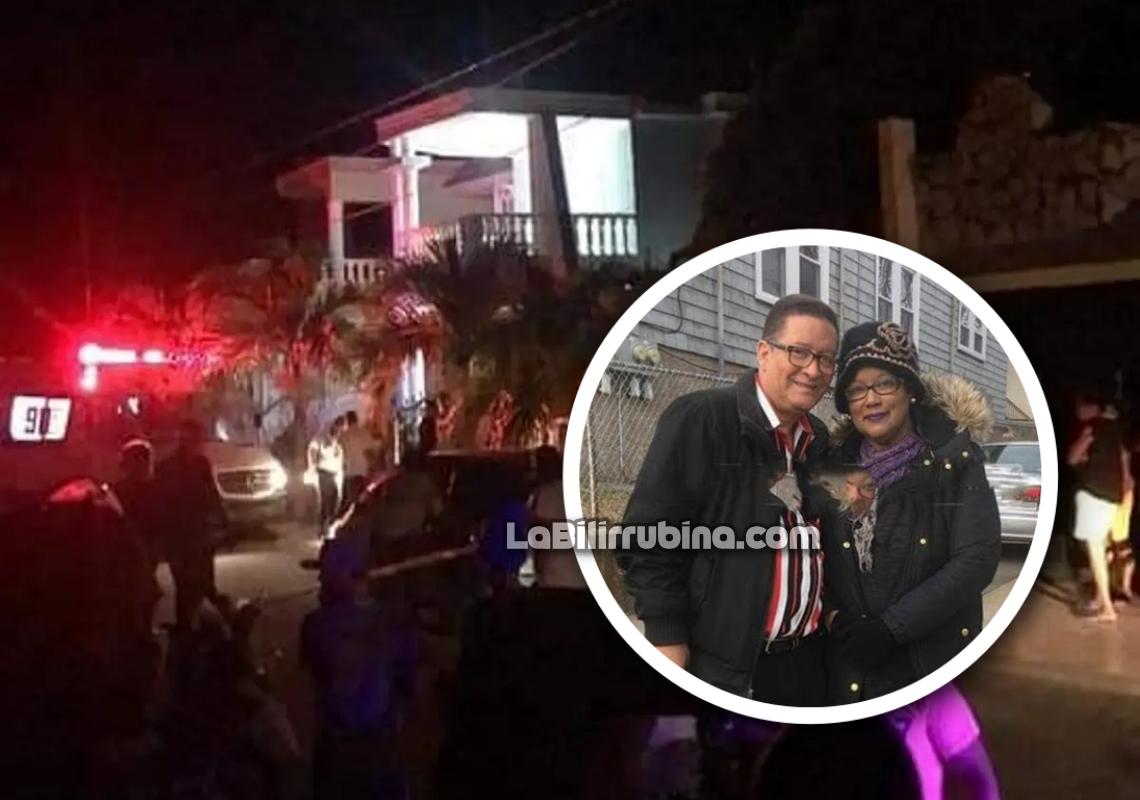 El profesor Nelson Bonilla y Doris Paulino