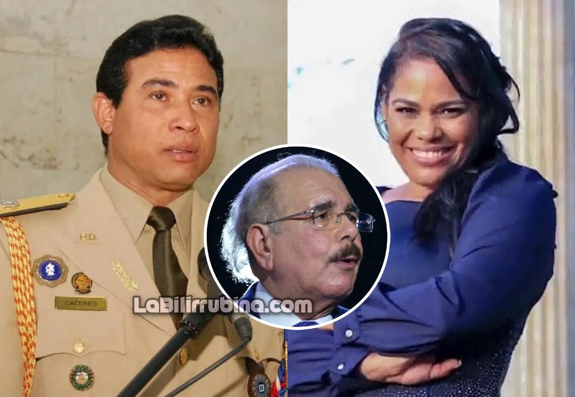 El mayor general Adán Cáceres Silvestre y la pastora Rossy Guzmán Sánchez
