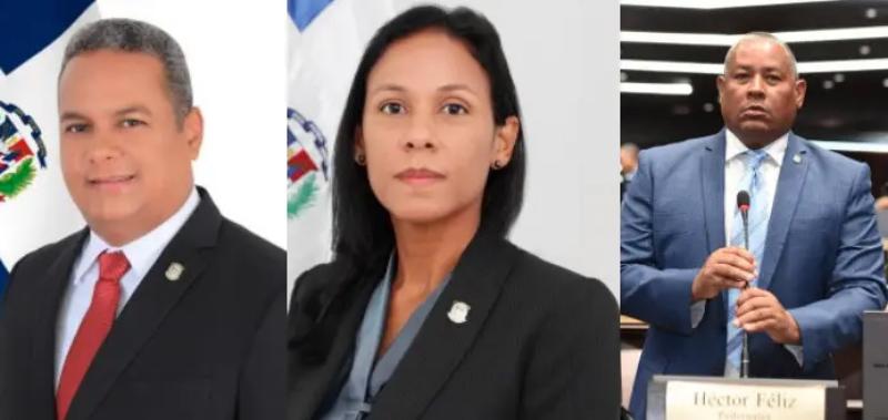 Nelson Marmolejos Gil, Faustina Guerrero Cabrera y Héctor Darío Féliz Féliz